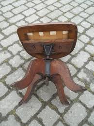 photos antique oak swivel desk chair