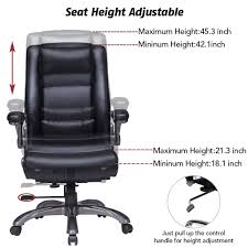 office chair controls. Amazon.com: VIVA OFFICE High Back Bonded Leather Executive Chair With Extra Thick Padded Headrest, Lumbar Pad And Flip-Up Arms: Kitchen \u0026 Dining Office Controls H