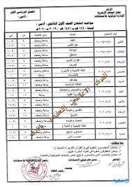 جدول امتحانات الصف الثالث الثانوي الازهري 2020 ادبي