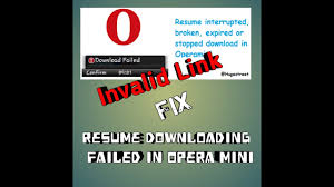 How To Resume Downloading Failed In Opera Mini Tanwer Tech