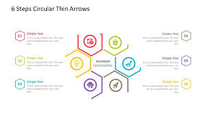 Arrow Ring Chart Powerpoint 6 Steps Circular Powerpoint Template Fully Editable