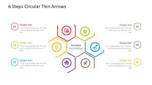 6 Steps Circular Powerpoint Template Fully Editable