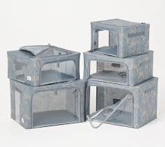 Periea <b>Set of 5</b> Collapsible Storage Box Collection - QVC.com