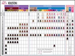 Koleston Color Chart Numbers 80 Expert Wella Koleston Perfect Color