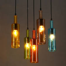 Decorative Colored Glass Bottles American Creative Personality Color Glass Bottle Light Cafe Bar 73