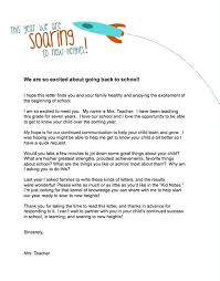 Teacher Welcome Letter Template Caseyroberts Co