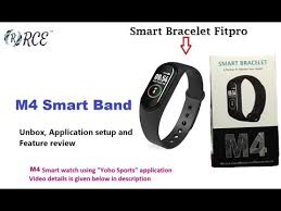 <b>M4 Smart</b> Band - Unboxing, Setup date/Time, First time setup and ...