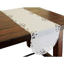 table runners table linens kitchen