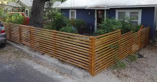 horizontal fence styles. Horizontal 1x4 With 3-inch Space Fence Styles A