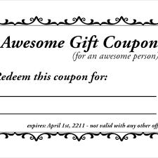 Coupon Format Template Homemade Voucher Template Coupon Templates Free Sample 9
