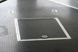 enclosed trailer flooring ideas. Touch Of Class Trailers Recessed Spare Tire Well Cover Enclosed Trailer Rubber Coin Flooring Ideas G