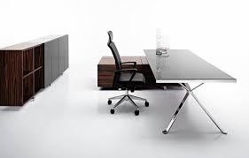 collection in modern glass office desk awesome rectangle black glass office table with chrome frame also