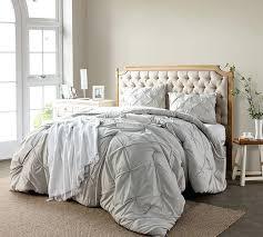oversized queen duvet cover silver birch pin tuck comforter bedding full