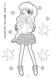 Cute Anime Coloring Pages Girl With Cat Girls Page Chibi Inside And