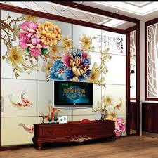 3d Pioenbloem Foto Behang Mural Wallpapers Voor Woonkamer Slaapkamer