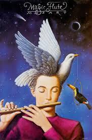 Опера Моцарта Волшебная флейта die zauberflote ru Опера Моцарта Волшебная флейта Постер Рафала Ольбиньского
