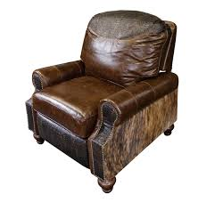 western royalty leather recliner western accent chairs