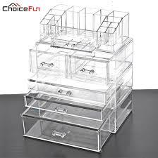 choice fun home desktop table vanity large storage box organization clear acrylic drawers make up makeup