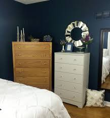 Navy Blue Dresser Bedroom Furniture Our Ceiling Is Still Intact Refinished Furniture One Room