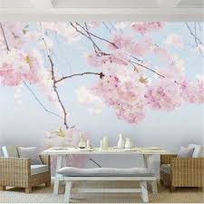 Cherry Blossom Backdrop Custom Photo Wallpaper Cherry Blossom Beautiful Floral Wall Mural Backdrop Living Room 3d Room Landscape Wall Papers Home Decor Wallpaper Free For