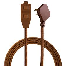 Designer Plug Cordinate Designer 3 Outlet Extension Cord 2 Prong Power Strip Extra Long 8 Ft Cable With Flat Plug Braided Chevron Fabric Cord Slide To Lock