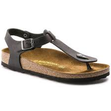 birkenstock kairo oiled leather black sandals double tap to zoom