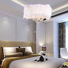 image of feather contemporary chandelier lighting