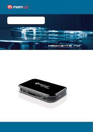 Memup Feel Design Memup Mediagate Hd Media Player Manual