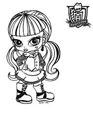 Small Picture Baby Monster High Print Coloring Pages for Kids Free Printable
