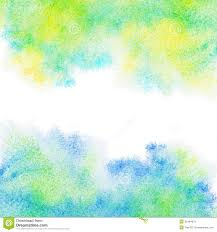 Yellow Blue Green Abstract Painted Blue Green Yellow Watercolor Background