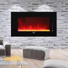 caesar fireplace 50 in wall mount electric fireplace chfp 50a