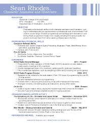 Animator Resume animator resume samples examples professional 100d animator 17