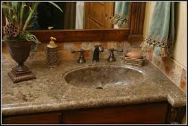 bathroom sink and countertop all in one