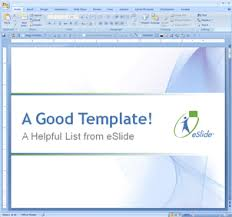 what makes a good powerpoint template eslide all