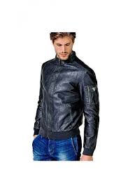 guess blue coated effect jacket