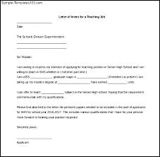 Example Of Letter Intent For Teaching Position 5 Reinadela Selva