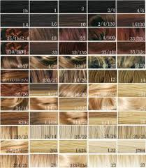 Synthetic Blonde Hair Color Chart Hair Dye Color Chart