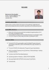 Gallery Of Electronics And Instrumentation Fresher Resume Resume