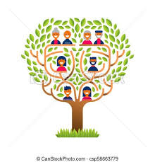 Family Tree Tree Template Big Family Tree With Happy People Icons