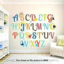 letter wall decals alphabet wall decor fresh bedroom wall decor