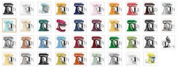 kitchenaid mixer colors 2016. kitchenaid colors 2016 stand mixer chart image gallery - hcpr t