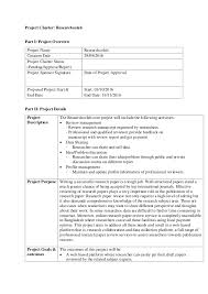 Software Project Management Project Charter
