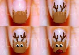 Christmas Winter Rudolph Nail Art – Best Simple Tutorial Home ...