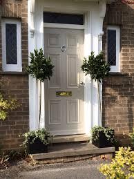 front door painted in hardwick white