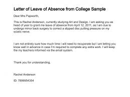 Leave Application Letter Format Template Sick To School Archives