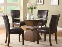 dining set dark brown laminated table wooden