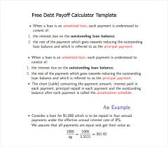 Sample Debt Payoff Calculator 11 Documents In Pdf