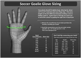 Soccer Goalie Gloves Size Chart Www Bedowntowndaytona Com