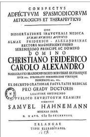 Четыре медицинские диссертации Самуэля Ганемана ndash  диссертация Ганемана