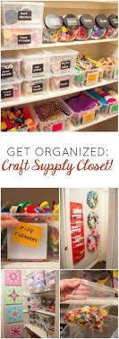Love this organized craft supply closet!
